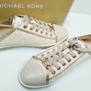 Michael Kors Rose Gold Kristy Slide Sneakers